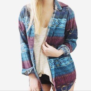 Cabela's southwestern print flannel top